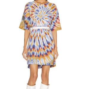 Raquel Allegra Tiedye Short Sleeve T-Shirt Dress